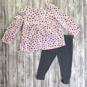 Carter's Girls Pink Leopard Outfit 2-piece 24M